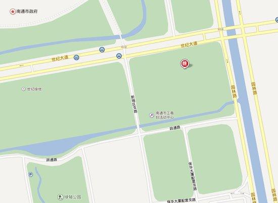 崇川区光明南村 目的地:启瑞广场 启瑞广场位于世纪大道与园林路交汇