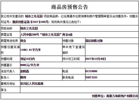万科城市之光新领预售证9月20日开盘 预售基价8000元/㎡
