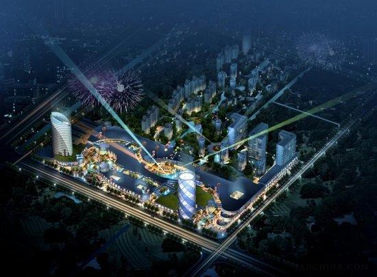 南通开发区商业中心规划夜景