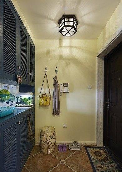 欧式装修玄关天花板铁壁纸图片