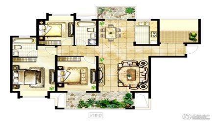 骏和棕榈湾户型图  3室2厅2卫