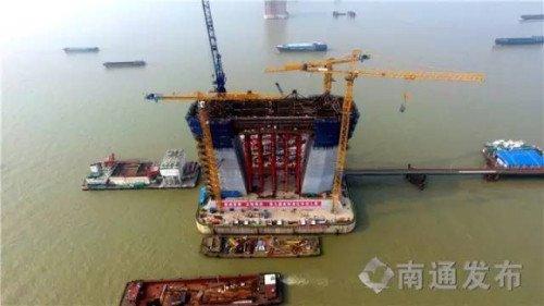 重磅!沪通长江大桥又完成了一项重要节点施工!