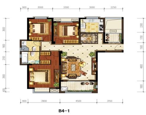 120平方三室一厅房子设计图 三室一厅房子设计图图片