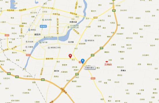 根据规划,郑万铁路南阳站将建于宛城区茶庵乡周庙村洪营自然村处,距二图片