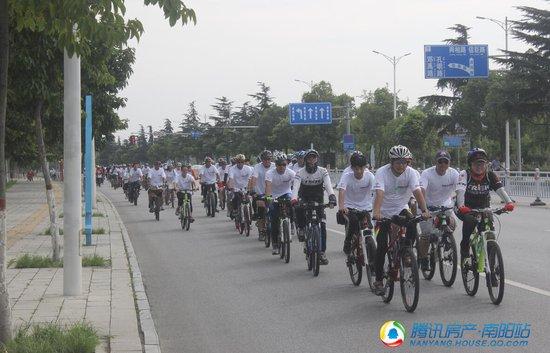 7月15日绿都悦府健康骑行,用行动丈量新区之美!