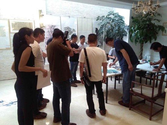 传世温泉公馆9.16墨香传世名家书画展完美落幕