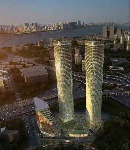 """280米""""浙江之門""""正式開工建設 總投資40億元"""