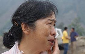 高清组图:英雄母亲的映秀眼泪