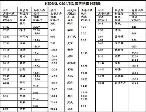 k2186次列车时刻表