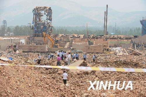 图文:安徽凤阳一企业发生爆炸事故 16死44伤