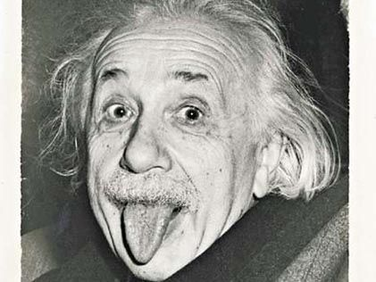 Einstein celebrates lives sticks out one's tongue the picture in US by the high price auction
