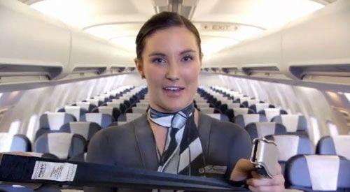 新西兰航空机长空姐全裸拍广告 网上大热(组图)