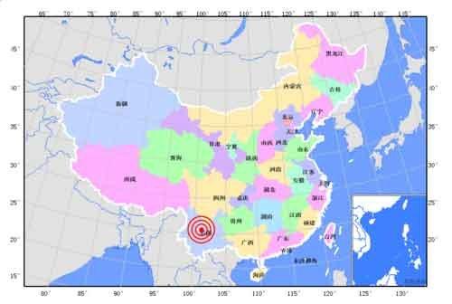 图文:云南楚雄安县发生6.0级地震