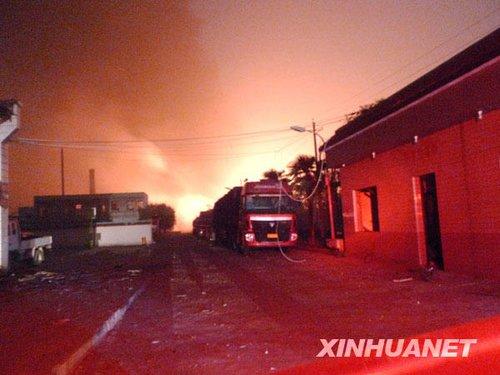 组图:河南偃师市一化工厂爆炸已致4人死亡