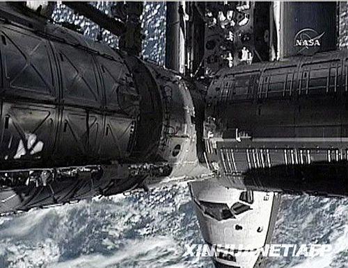 这张7月17日美国航天局的视频截图显示了美国