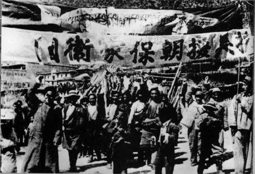 1950年:中国人民志愿军开始抗美援朝