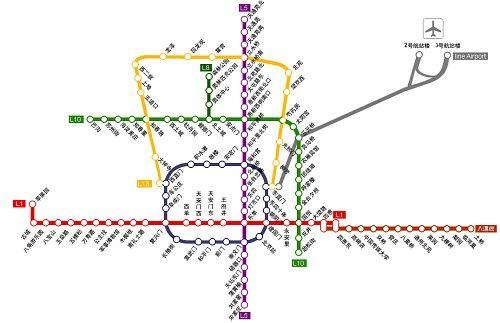 地铁5号线线路图站名斜排 网友戏称能治颈椎图片