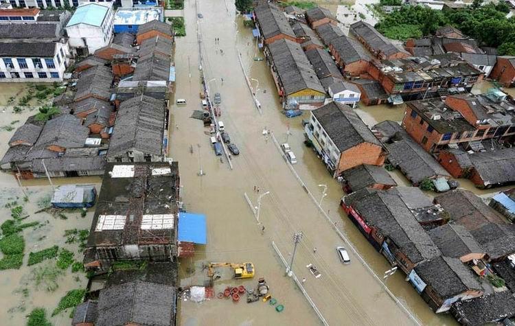 高清组图:莫拉克致温州苍南县全城浸水