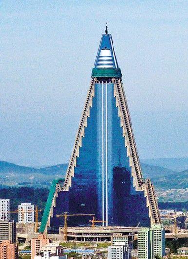 世界最大烂尾楼平壤柳京饭店装修一新(图)