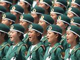 """组图:国庆60周年阅兵方阵中有三支""""娘子军"""""""