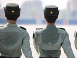 组图:记者拍摄阅兵村官兵训练场面
