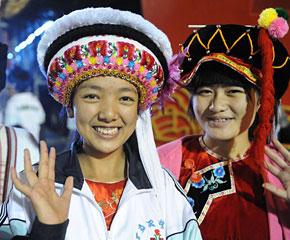 高清图:国庆庆典演员开始入场