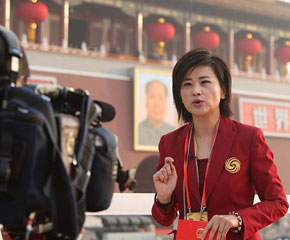 高清图:各界媒体聚集报道阅兵活动