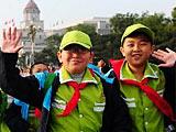 组图:中小学生进入天安门广场