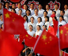 高清图:普天同庆 大地飞歌颂祖国