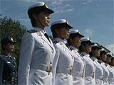 组图:受检阅的官兵们