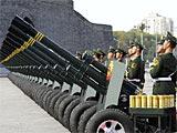 组图:国庆庆典礼炮在天安门广场开始鸣响
