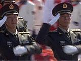 组图:徒步02陆军学员方队