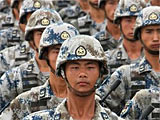 组图:徒步09空降兵方队