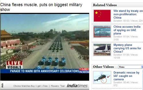 """印度媒体关注阅兵 称中国向世界""""展示肌肉"""""""