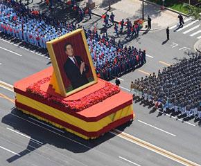 高清图:国庆60年庆典之群众游行图片精选