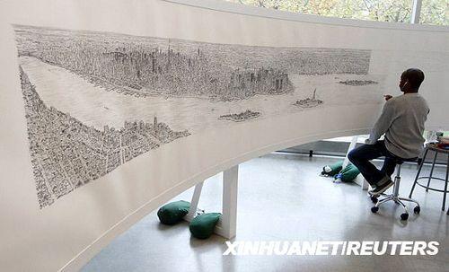 组图:手绘纽约全景