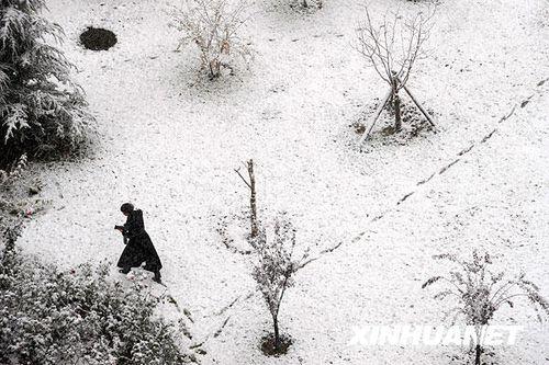 北京迎来今年入冬首场降雪 城区气温骤降(图)