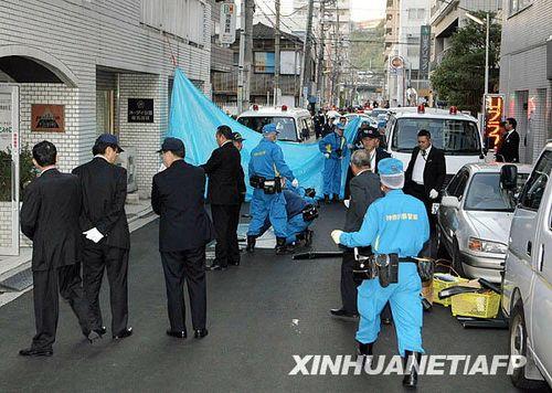 组图:日本发生枪击事件造成3人受伤_国际图片
