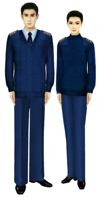 07式军服空军毛衣 (图6)-受权发布 军服标准图样 大衣 毛衣图片