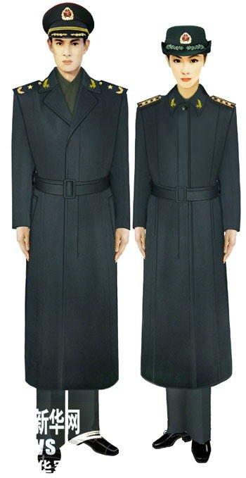 07式军服陆军将校官大衣 (图1)-受权发布 军服标准图样 大衣 毛衣图片