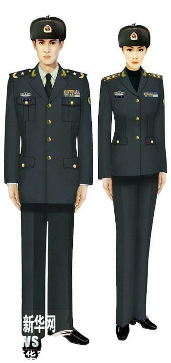 官方媒体刊登解放军07式军服标准图样