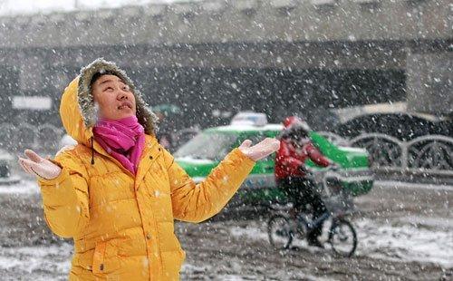组图:石家庄遭遇1955年以来最大暴雪袭击