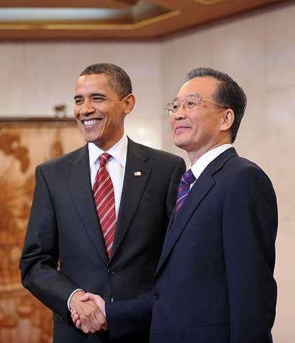 国务院总理温家宝会见美国总统奥巴马