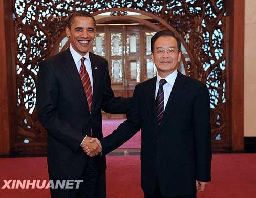 温家宝会见奥巴马并举行工作午宴(组图)