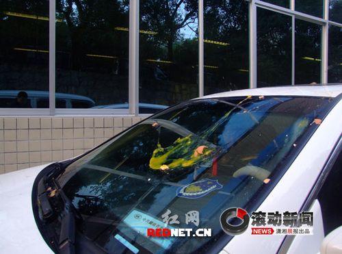 网传鸡蛋砸车抢劫很凶险 记者体验证实属夸张