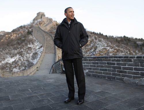 图:美国总统奥巴马游览八达岭长城