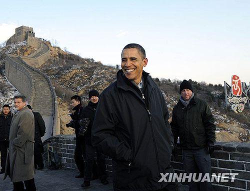 奥巴马游览八达岭长城