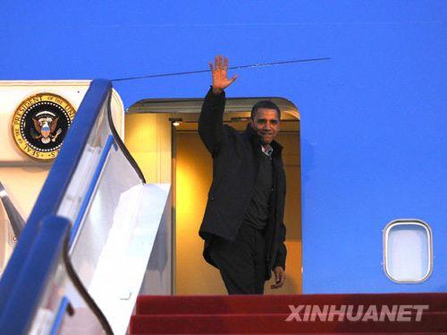 美国总统奥巴马结束访华离京(图)