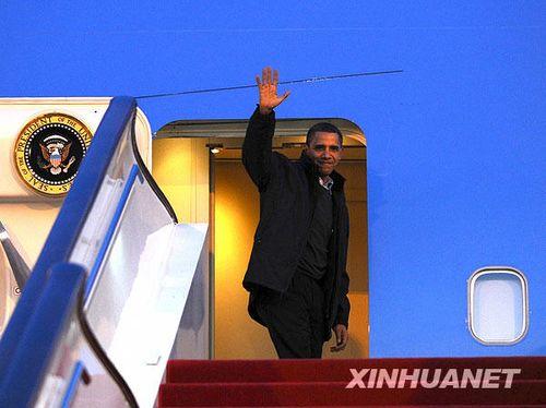 奥巴马结束访华离京