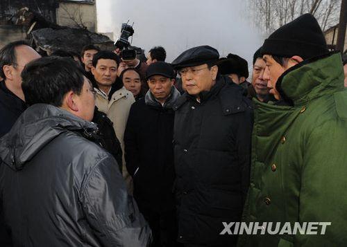 张德江赴黑龙江新兴煤矿事故现场指导救援工作